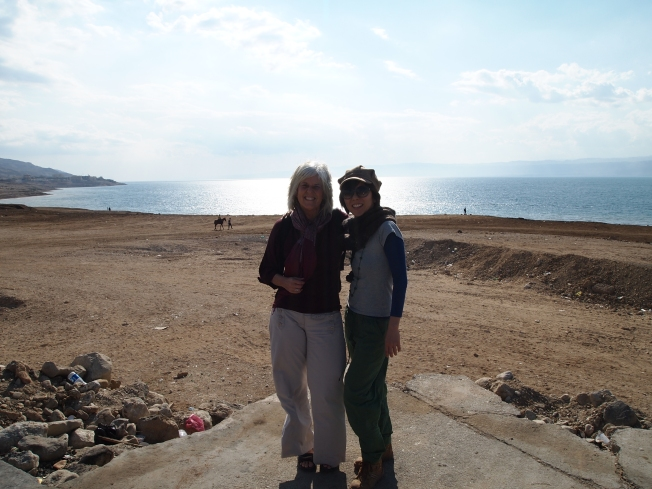 me and minako in front of the Dead Sea