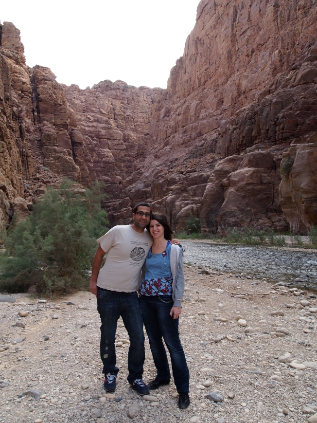 Emre and Zeynap from Turkey in Wadi Mujib Nature Reserve