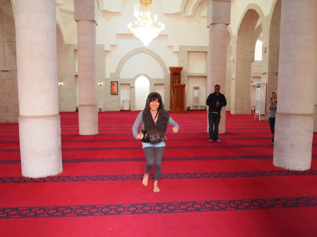 Minako at the Jafar Bin Abi Taleb Shrine