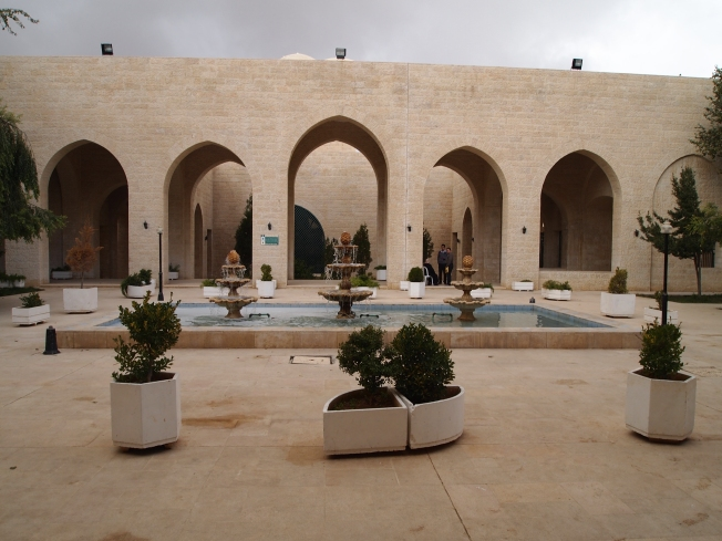 the courtyard at Jafar Bin Abi Taleb Shrine