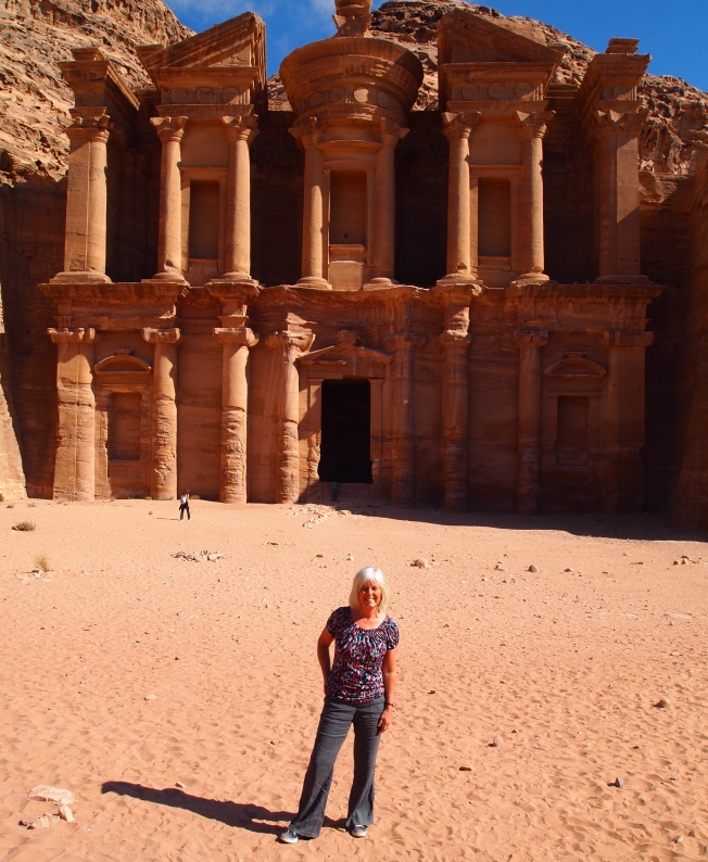 me dwarfed by the Monastery