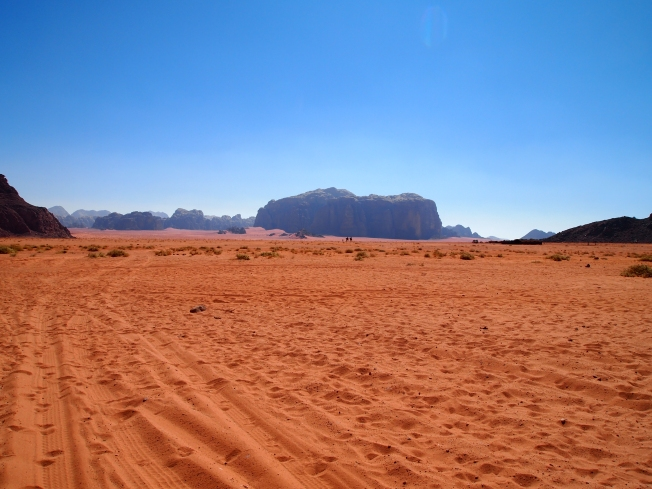 the broad expanse of wadi rum