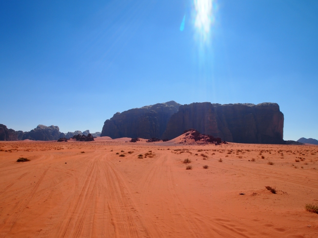 the red desert of Wadi Rum