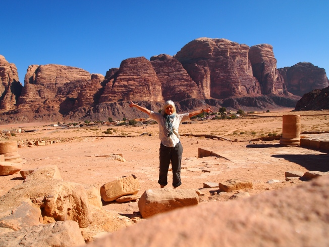 me at the Nabatean Temple ruins, of which there aren't many!