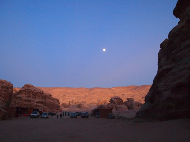 sunset over Little Petra