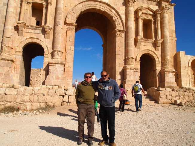 Guido and Khalid at Hadrian's Arch