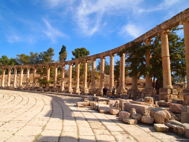 the Oval Plaza (Forum) at Jerash
