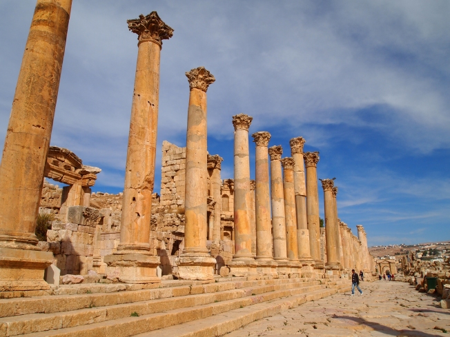 the road through Jerash