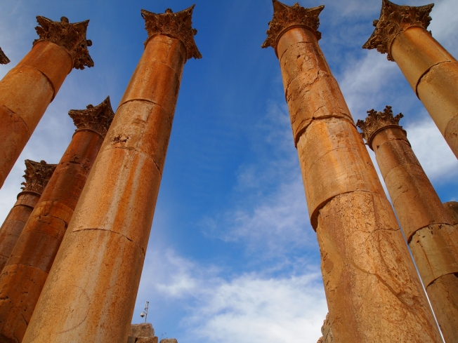 the columns at the Temple of Artemis