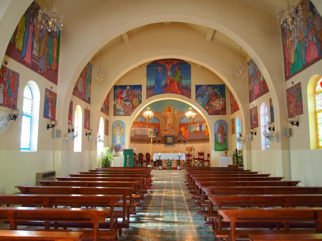 inside the church at Ajloun