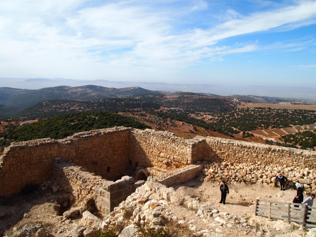 Ajloun with the Jordan Valley below